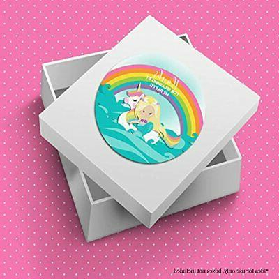 Mermaid Unicorn Pool Party Sticker Labels, 2&quot By