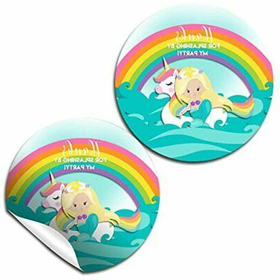mermaid and amp unicorn pool party thank