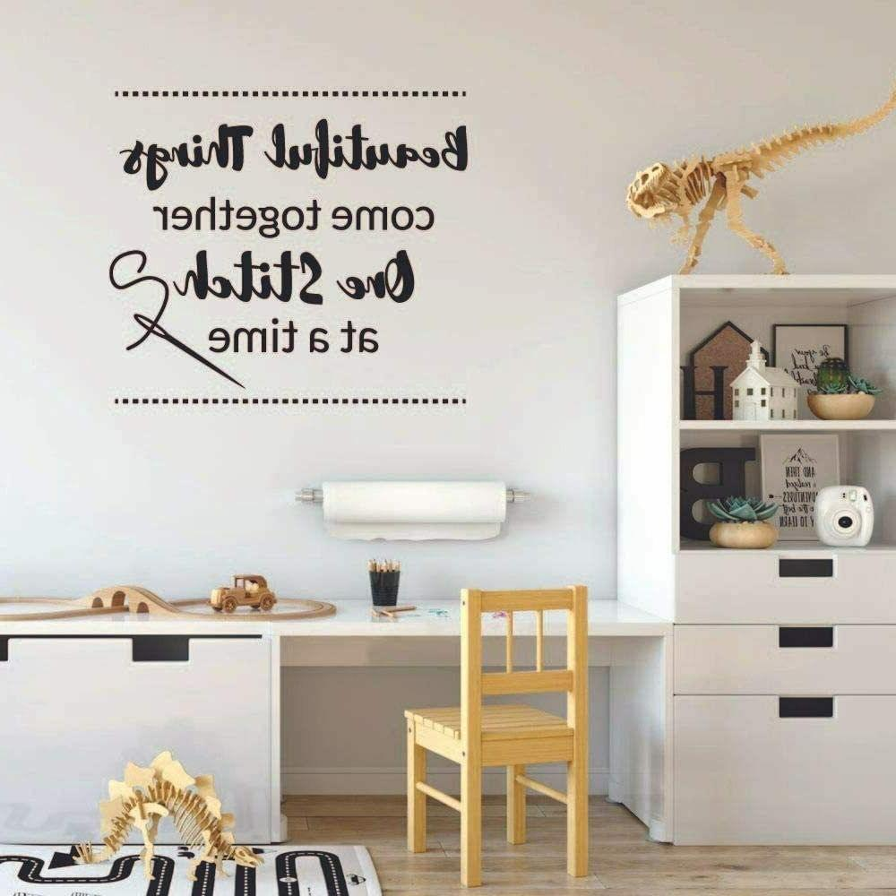 One Stitch Quote Wall Sticker Art Home Room Decors