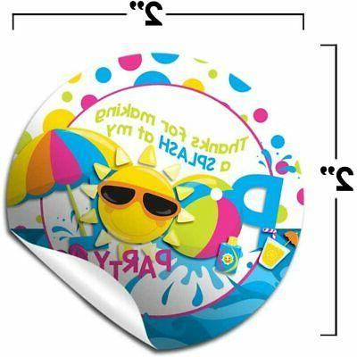 Pool You Labels for Girls, 40 Circle Stick