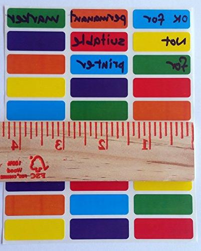 Rectangular Color Coding 1 1/2 Assorted colors coding Orange, Red Yellow-- Rectangle colors semi gloss