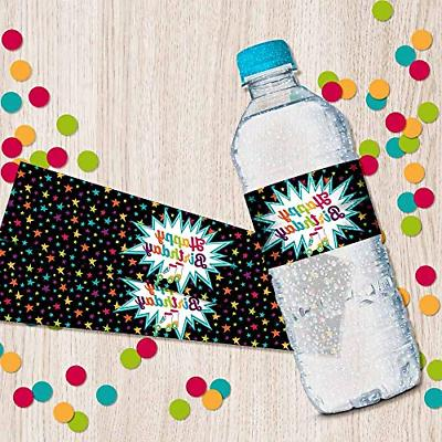 Roller Themed Birthday Party Waterproof Sticker Wrappers,