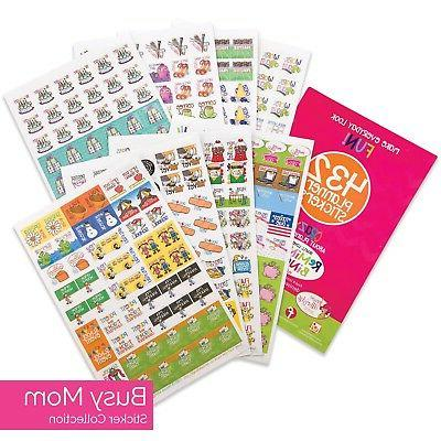 432 Planner Stickers - Busy Mom Collection for Calendars, Pl