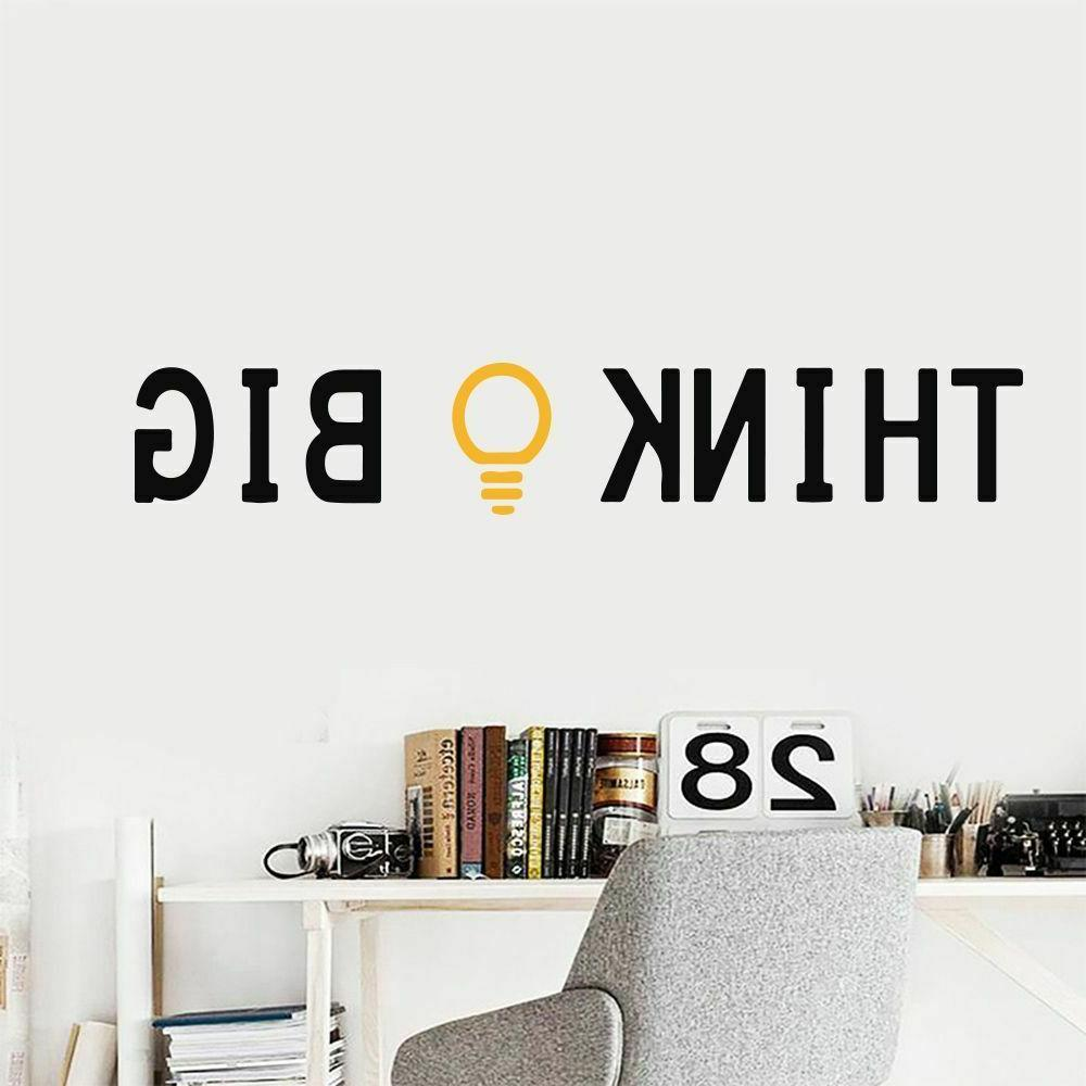 Wall Stickers Think Big Gold Idea Art For Office Classroom B