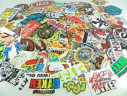 Lot of 5 Brand Name Skateboard Vinyl Stickers Decals Large M