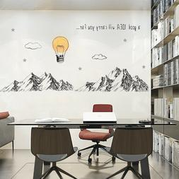 Mountains Wall Stickers For Meeting room Business/office/Stu