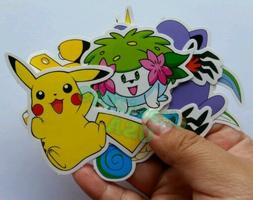 POKEMON PICACHU STICKERS SET OF 8 DECAL KIDS PARTY FAVORS BA