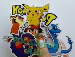 POKEMON PICACHU STICKERS SET OF 8. DECAL KIDS PARTY FAVORS B