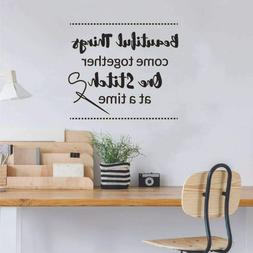 one stitch sew sewing quote wall sticker