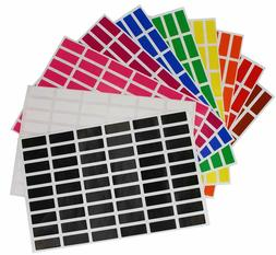 Organization Color Coding Labels 1 Inch x 3/8 Inch Rectangle