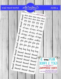 Planner Stickers  Functional Icons School Quiz Stickers, Fit