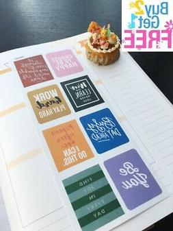 PP107 -- Inspiration Quote Life Planner Stickers for Erin Co