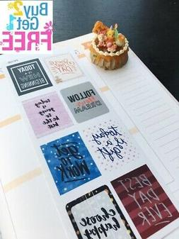 PP108 -- Inspiration Quote Life Planner Stickers for Erin Co