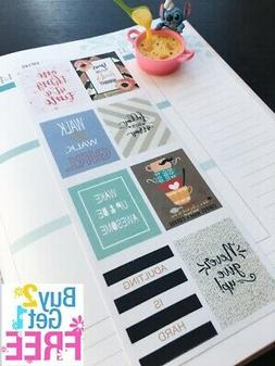 PP145 -- Inspiration Quotes Planner Stickers for Erin Condre