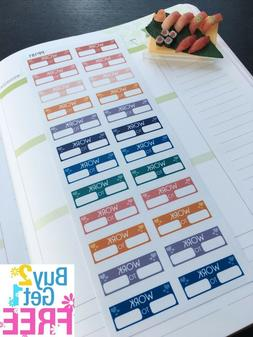 PP181-- Work Time Box Life Planner Stickers for Erin Condren