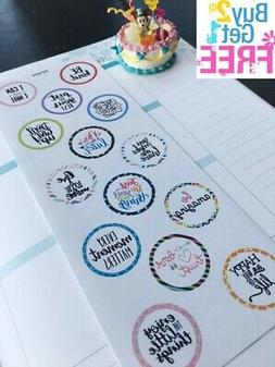 PP404 -- Motivational Quotes Planner Stickers for Erin Condr