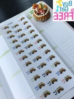 PP477 --  School Field Trip Icons Life Planner Stickers for