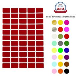 rectangle color coding labels 1 inch x