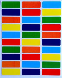 Rectangular Color Coding Labels 1 3/8 inch by 1/2 Inch --Val