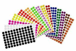 Round Dot Removable Stickers 15mm Assorted Color Coding Circ