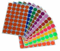 Royal Green Round Stickers 3/4 inch in 13 Assorted Colored S