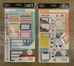 The Happy Planner – 1,164 Piece Planner Stickers - 2 New P