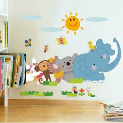 wall stickers Decals Design Jungle Cartoon natural and  Anim